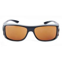 Gafas De Sol Hd Vision Wrap- Lente Naranja Marco Negro