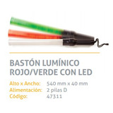 Baston Luminico Luminoso Led Rojo - Verde Vial Señalizacion