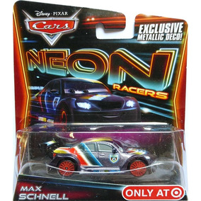 Disney Cars 2 Max Schnell Neon Metalico Target Mcqueen