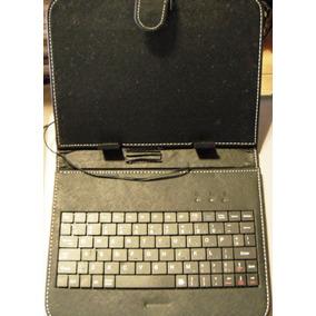 Teclado Com Case Para Tablet Usb Para Até 22 X 16,5 Cm