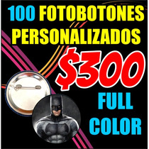 100 Fotobotones Publicitarios Super Precio Oferta