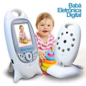 Babá Eletronica Câmera Sem Fio Visão Noturna Lcd Digital 2p