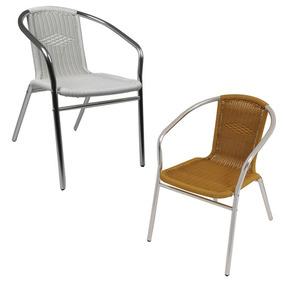 Cadeira Poltrona Mor Rattan Para Jardim Em Alumínio