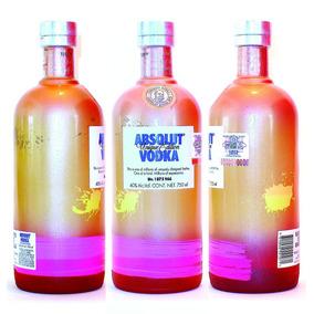 Absolut Vodka Unique Vacia Coleccion Kurant Peppar Lime Svea