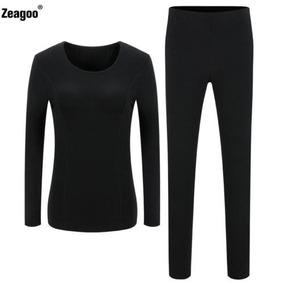 Ropa Interior Tapas + Pantalones Invierno... (black, M .)