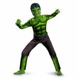 Fantasia Hulk Com Máscara Infantil Músculos + Brinde
