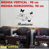 Adesivo Salão De Beleza Manicure 90cm X 90cm Nome Will926