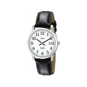 Reloj Timex Caballero Piel Easy Reader Indiglo Envío Gratis