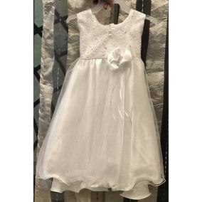 Hermoso Vestido Para Nena Bautizo,presentacion Blanco