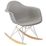 mecedora sillon moderno diseo eames daw base madera gris - Mecedoras Modernas