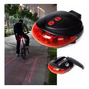 Luz Led Laser Bicicleta Seguridad Soporte Trasera Bici