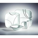 Vajilla 16 Pzas. Square Roun Simple Line Corelle - 1069983