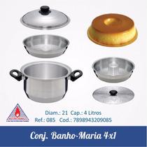 Conjunto Banho Maria 4 X 1 ( Cozimento À Vapor)