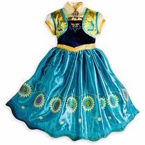 Vestido Frozen De Anna Fever Americano Envio Gratis Dhl