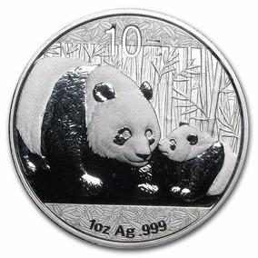 Moeda Prata Pura 999 2011 1 Oz Chinese Panda - Frete Grátis