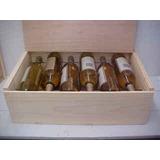 Doce Botella Vino De La Caja Con El Carro Superior