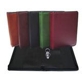 Portafolios Oficio/ A4 Eco Cuero C/cierre Y Aparato X 6 Unid