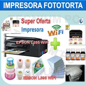 Impresora Fototorta Comestible Wifi +kit Papel + Tinta L395