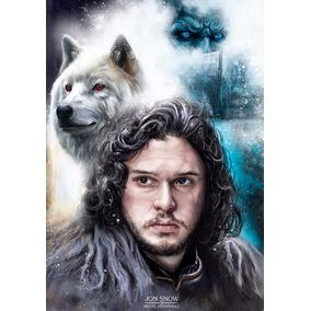 Poster Game Of Thrones Jon Snow Daenerys Arte Grande 42x30cm