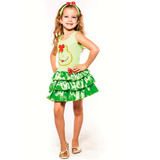 Fantasia Sapinha Sapa Infantil Vestido Rodado, Faixa E Laços
