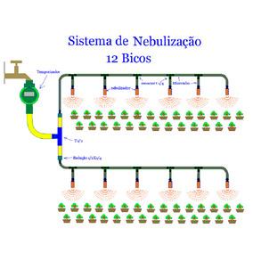 Peças Para Nebulização Com Programador Digital - 12 Bicos