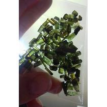 Denizegemas Lote De Canudos De Turmalina Verde 25 G