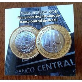 Moeda/blister Comemorativa 1 R$ 2005 Sb 40 Anos Do Bc