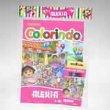 50 Kit Colorir Dora Aventureira Revista Giz Lembrança