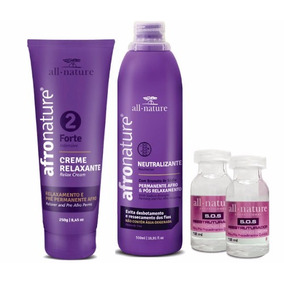 Kit Relaxamento Capilar (forte) Afro Nature/all Nature