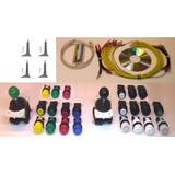 Kit Mame Arcade Multijuego Usb+cables+2 Palancas +22 Botones