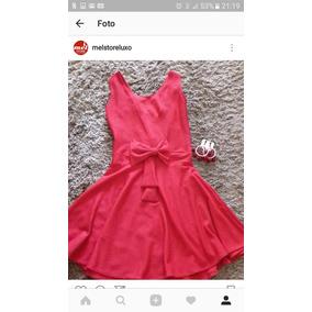 Vestido Vermelho Costas Nuas Laço Piquet G Gg Vários Modelos