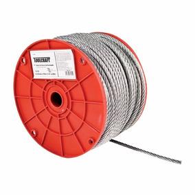 Cable Acero Toolcraft 1/8 Pulg 150 M 7x7 Hilos Tc0986