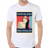 Remera God Bless Mia Khalifa Sexy Girl Sensual Dios Bendiga!