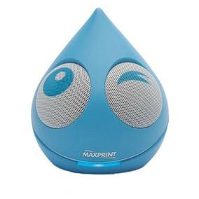 Caixa De Som Mini Gota Azul 4w Rms Usb Portatil - Maxprint