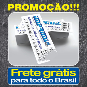 3000 Etiqueta Lacre Casca De Ovo 3x1 Destrutível Fretegrátis