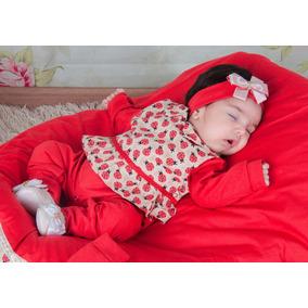 Kit Saída Maternidade Bebê Menina Joaninha - Vermelha