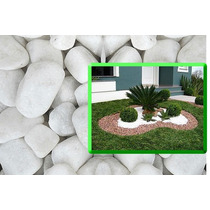 Pedra Branca Jardim Decorativa 20kg