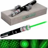 Caneta Laser Pointer Verde Lanterna 8000mw Até 9km 5 Pontas