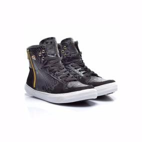 Tênis Slim Preto Croco Hardcore Footwear