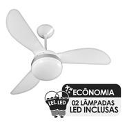 Ventilador De Teto Ventisol Fênix Branco/silver 2 Lamp -127v