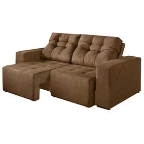 Sofa Cama Casal Lufer Sued Grande Espaçoso