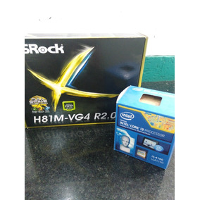 Tarjeta Madre Asrock H81m-vg4 Con Cpu I3 4160 3.6ghz