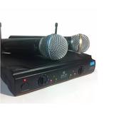 Microfone Sem Fio Barato Duplo Uhf Profissional Padrão Shure