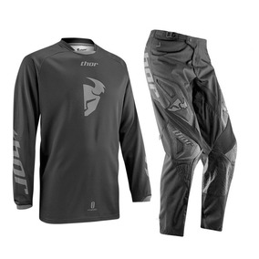 Calça E Camisa Motocross Trilha Thor Phase Blackout