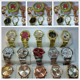 Kit 10 Relógio Baratos Feminino+caixa+brinde Atacado Revenda
