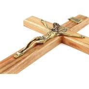 Crucifixo Com Medalha De São Bento Para Parede - 35cm
