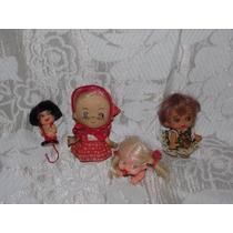 Boneca Antiga Em Borracha-mini Doll-estrela-susi-lote C/4