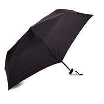 Paraguas Negro Samsonite Automatico Reforzado ! Ultraliviano