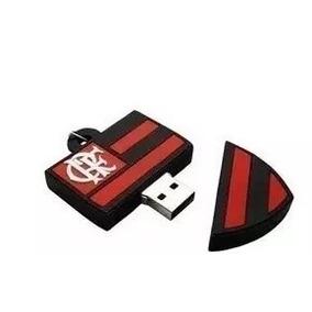 Pen Drive Escudo Personalizado Futebol Flamengo 4 Gb
