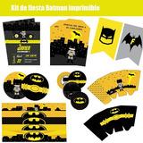 Kits De Fiesta, Invitaciones, Tarjetas De Cumpleaños Batman